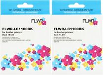 FLWR LC-1100BK 2-pack Black Compatible Cartridge for FLWR Brother NON OEM