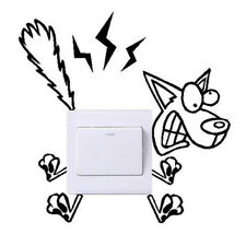 Funny Dog For Kids Rooms Home Wall Stickers Decals Home Decor Light Switch