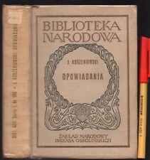 425 page POLISH TEXT OPOWIADANIA Jozef Korzeniowski Narodowa Biblioteka