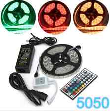 5M SMD 5050 RGB Waterproof 300 LED Strip Light 44 Key Controller 12V