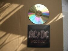 AC/DC - ROCK OR BUST - ONE TRACK PRINTED CDR PROMO SINGLE  - NEW / UNPLAYED