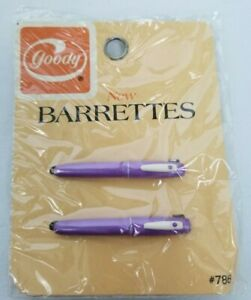 Vintage 1975 Goody Purple Pen Barrettes Rare HTF #786 NOS