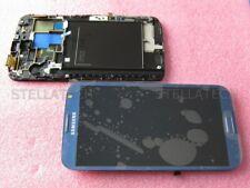Original Samsung GT-N7105 Galaxy Note 2 LTE Display LCD Touchscreen+Rahmen Blau
