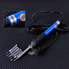 110V US Plug Temperature Adjust Electric Welding Soldering Iron Heat Gun Pencil