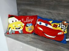 Disney Pixar Cars Cushions Luigi And Lightening Mcqueen With Small Cars