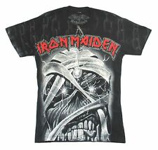 IRON MAIDEN PIECE OF MIND ED ALL OVER PRINT BLACK T SHIRT NEW OFFICIAL SMALL