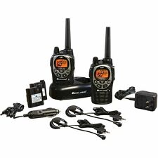 Midland GXT1000VP4 36-Mile 50-Channel FRS/GMRS Two-Way Radio Pair Black/Silve