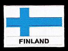 aa64 Flagge Finnland Fahne Aufnäher Bügelbild Patch Applikation 7 x 4,8 cm Flag