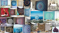 Indian Mandala Queen Bedspread Tapestry Wall Hanging Hippie bohemian Decor Throw