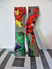 "Marvel Comics Metal Sign Wall Decor Letter K 10"" Iron Man Hulk"