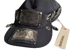 Diesel REBOOT-BLACK Biker Cap. Uni.