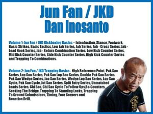 JUN FAN/JKD (2) DVD SET jeet kune do kickboxing trapping filipino martial arts