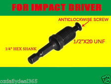 "1/2"" DRILL CHUCK Hex ADAPTER & SCREW For Makita Bosch Ryobi Dewalt Impact Gun OZ"