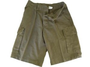 Shorts Mens Cargo Combat Cotton BW 100% Cotton VTG Look Olive Khaki NEW XS-XXL