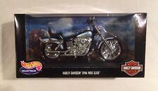 Harley Davidson Dyna Wide Glide, 2000, Black/Silver/Teal, 1:10, Hot Wheels, NIB