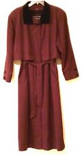 GALLERY - Burgundy Belted Trench Coat with Removable Liner - Women's Size: 10