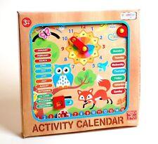 Mi Primer Reloj Calendario De Madera Para Niños Aprendizaje De Juguete Educativo Colgante De Pared