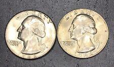 Uncirculated 1982 P And D Washington Quarters BU Lot 1