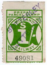 (I.B) Midland Railway : Prepaid Parcel 1/- (Butterley)