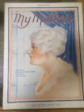 "Sheet Music ""My Mother"" Amy Ashmore Clark & W.C. Polla on CC Church label rare"