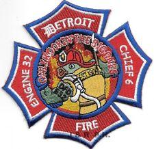 "Detroit  Engine - 32 / Chief - 6, Michigan (4"" x 4"" size) fire patch"
