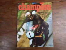 AUTOMOBILE MOTO : Revue CHAMPION No 35 (1968) Suzuki Scrambler Datsun 2000 sport