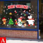 Christmas Wall Stickers Adhesive Window Decals Santa Xmas Festival Home Decor