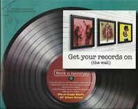 6 12 inch BLACK RECORD ALBUM FRAME WALL DISPLAY VINYL LP RETRO COVER POP ART NEW