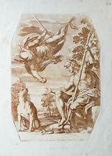 c1685 Diana Artemis Pan Satys Faun Cesio Carlo Kupferstich