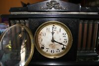 Vintage Antique Ingraham Mantel Clock  Parts Or Repair