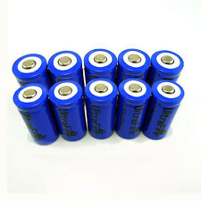 10pcs UltraFire 16340 CR123A 3.7V 1200mAh Rechargeable Li-Ion Battery Batteries