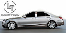 Mercedes S Class W222 Stainless Chrome Pillar Posts by Luxury Trims 2014-2018 6p