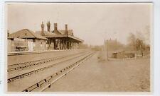 Postcard-size photograph of Mildenhall Railway Station (C11477)