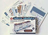 N gauge card model Micromodels TERMINAL STATION SET L.S III Micro New Models kit