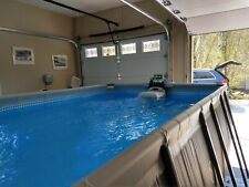 intex 9' x 18' x 5'deep ultra Xtr pool with Sand pump and skimmer. Excel. cond.