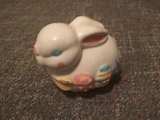 Vtg 1998 Porcelain Ceramic Easter Bunny Covered Candy Jewelry Lidded Trinket
