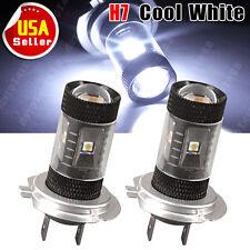 2 X H7 High Power 30W LED Super White Car Fog Lights DRL Driving LED Bulb 7000K