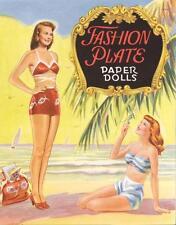Vintge 1948 Fashion Plate Paper Dolls ~Pretty Laser Reproduction~Orig Size Uncut