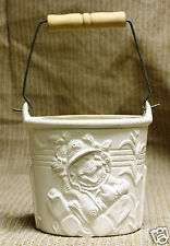 Ceramic Bisque Scarecrow Pail w Handle Ceramichrome 2970 U-Paint Ready To Paint