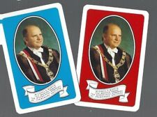 PLAYING CARDS 2x SINGLE CARDS WORSHIPFUL COMPANY OF FRAMEWORK  KNITTERS 1988/89