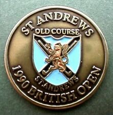 "1990 OPEN GOLF CHAMPIONSHIP QUALITY HAND PAINTED EMBOSSED BALL MARKER 1"" COIN."