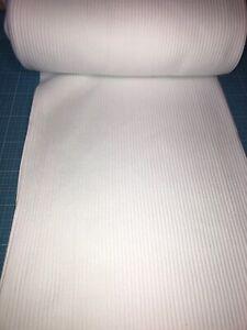 Bündchen 0,25m Meterware Schlauchware Bündchenstoff Rippenjersey Weiß