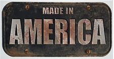 "ProSticker 772 (One) 4""x 8"" Made In America Rat Rod Decal Sticker - Not A Plate"