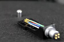 Shell portatestina in alluminio nero per bracci 'S' per giradischi con cavetti