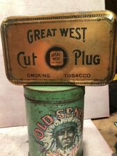 GREAT WEST CUT PLUG TOBACCO TIN   ORIGINAL