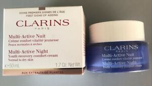 Clarins Multi-Active Night Cream - Normal to dry skin - 50ml - Boxed - Free Post