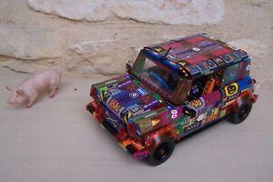 lego rare voiture créator mini cooper 10242 décorée ; unique .