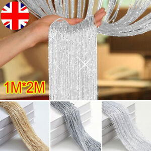 2M Hanging String Curtains Panels Door Fly Screen Room Divider Window Curtain UK