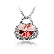 Corazón Amor Colgante cristal strass collar Collar Regalo Navidad