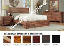Modern 5 pc Wooden Bedroom Set - 1 King size Bed ,2 bedside,1 dresser,1 Frame !